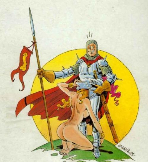 Image 1: Dessin porno Faire une pipe a un chevalier