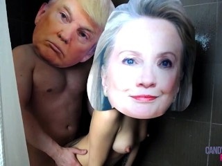 Donald Trump and Hillary Clinton Real Celebrity Sex Tape Exposed XXX USA