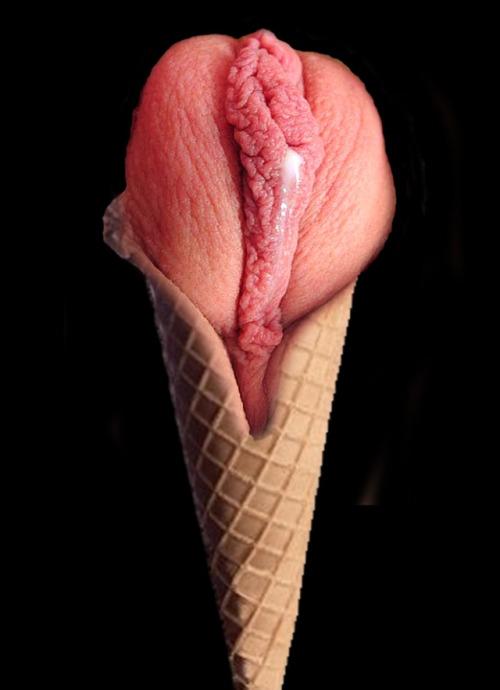 Image 1: Est ce que c est une glace a la fraise ou un sexe de femme
