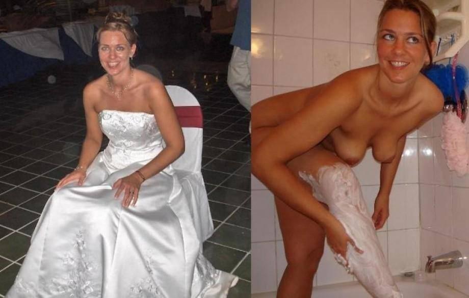 Image 2: Jeune mariee habillee et nue pour la nuit de noce