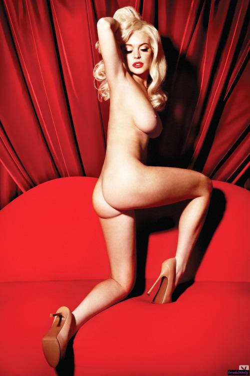 Image 1: Superbe photo de Lindsay Lohan nue