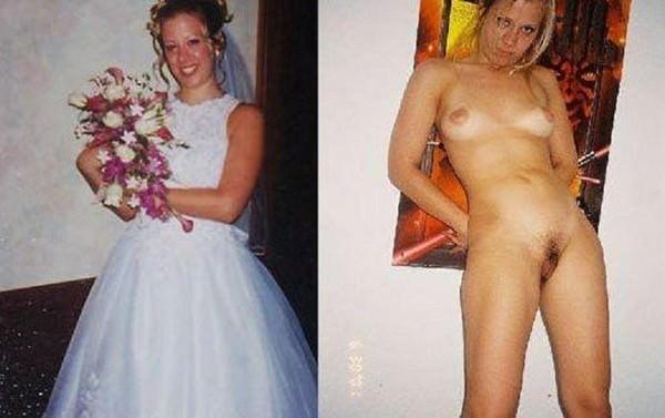 Image 3: Jeune mariee habillee et nue pour la nuit de noce
