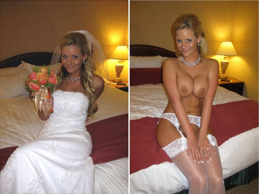 Image 4: Photos de femme en robe de mariee et nue