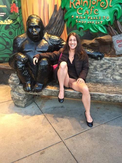 Image 1: Cette amatrice est content d exhiber sa chatte a cote de King Kong