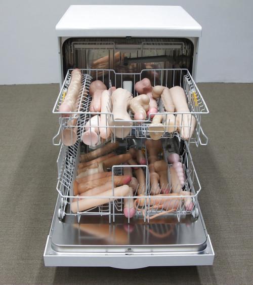 Image 1: Photo insolite Les godes d une camgirl dans le lave vaisselle