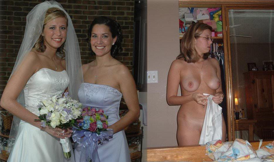 Image 5: Photos de femme en robe de mariee et nue