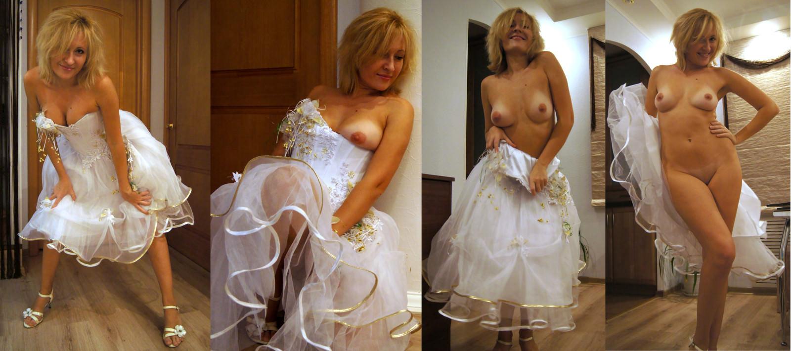 Image 3: Photos de femme en robe de mariee et nue