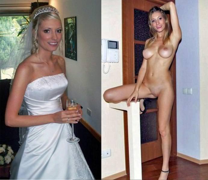 Image 7: Jeune mariee habillee et nue pour la nuit de noce
