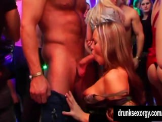Beauty pornstars taking dicks in a club