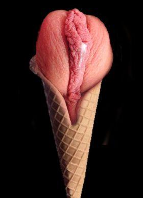 Est ce que c'est une glace à la fraise ou un sexe de femme ?