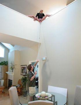 Astuce originale et drole pour goder sa femme quand on a une grande maison