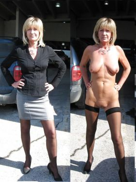 Quelques photos de femmes blondes nues et habillées