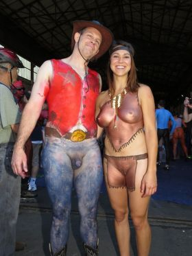 Body painting coquin en couple