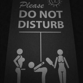 Pancarte coquine qu'on peut voir les clubs libertins BDSM